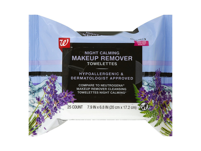 Walgreens Makeup Remover Towelettes, Night Calming, 25 count