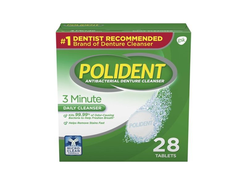 Polident 3-Minute Daily Cleanser, 28 count