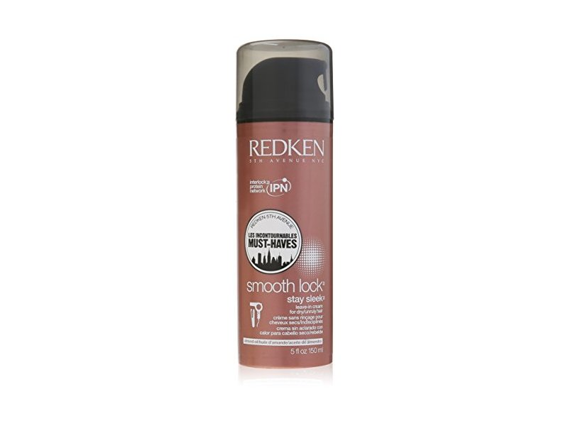 Redken Smooth Lock Stay Sleek Leave In Cream, 5 fl oz