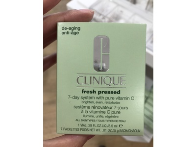 Clinique Fresh Pressed 7-day System with Pure Vitamin C, 1 vial .29 fl oz, 7 packettes 0.01 oz - Image 6