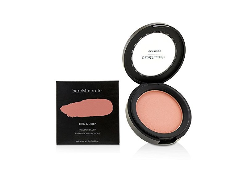 BareMinerals Gen Nude Powder Blush, Pretty In Pink, 0.21 oz