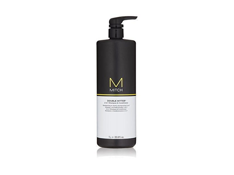 MITCH Double Hitter 2-in-1 Shampoo and Conditioner, 33.8 oz