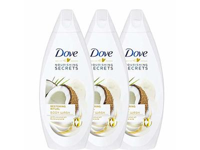 Dove Restoring Ritual Coconut Oil And Almond Milk Body Wash 3 Packs X 16 9 Fl Oz 500ml Ea Ingredients And Reviews