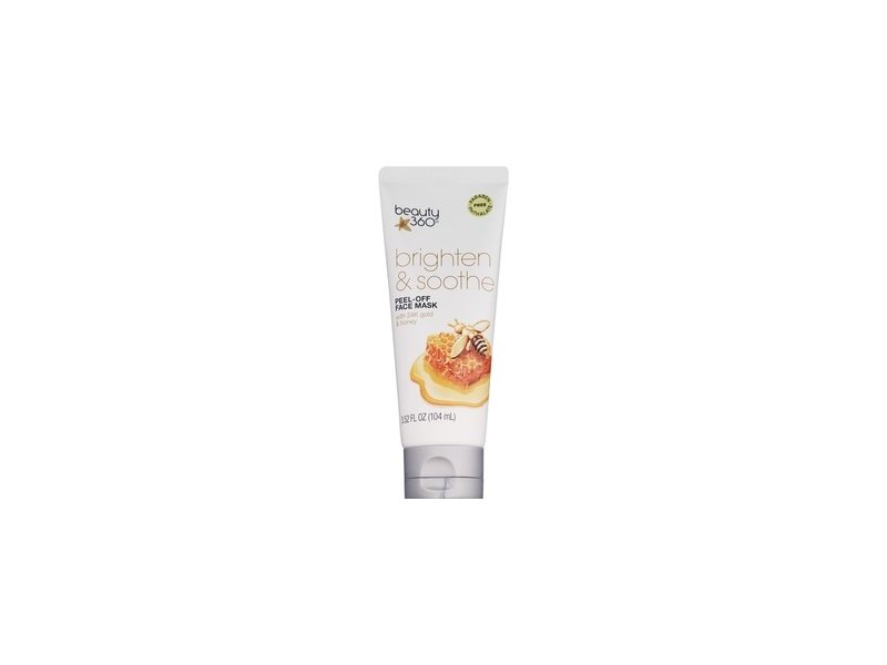 Beauty 360 Brighten & Soothe Peel-Off Face Mask with 24K Gold & Honey