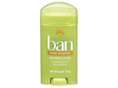 Ban Deodorant Invisible Solid, Sweet Simplicity, 2.6 oz