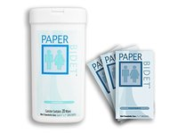 Paper Bidet Combo - Flushable, Biodegradable, Unscented Toilet Wipes Canister & Individual Packs - Image 2