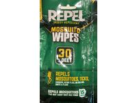 Repel Insect Repellent Mosquito Wipes 30% Deet, 15 wipes - Image 3