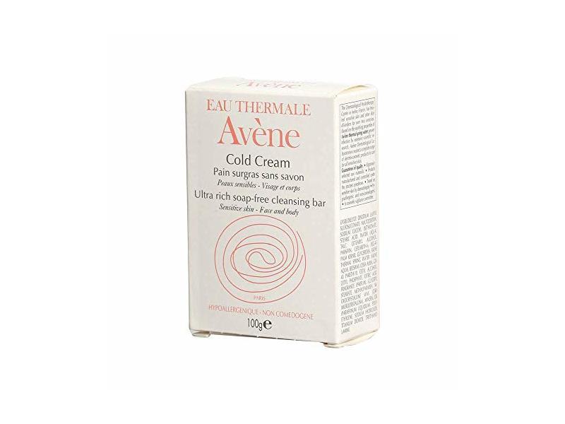 Eau Thermale Avene Cold Cream Ultra-Rich Cleansing Bar, 3.5 oz