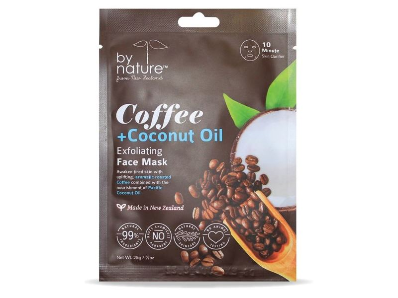 By Nature Awakening Face Mask, Coffee + Coconut Oil, 0.875 oz