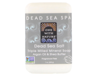 One With Nature Dead Sea Salt Bar Soap, 7 oz - Image 2