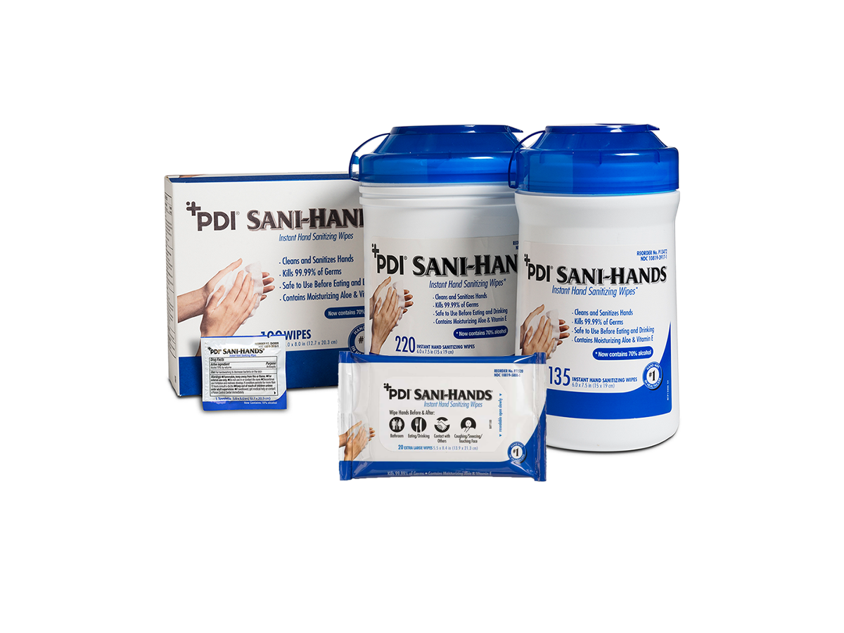 Pdi Sani Hands Instant Hand Sanitizing Wipes 20 Wipes