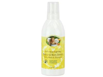 Earth Mama Angel Baby Natural Non-Scents Body Wash & Shampoo, Unscented, 34 fl. oz.