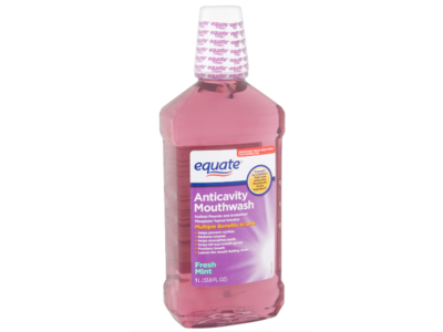 Equate Anticavity Mouthwash Fresh Mint, 33.8 fl oz/1 L
