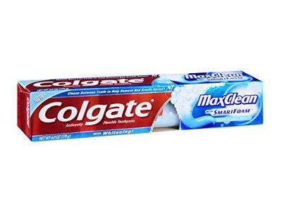 Colgate MaxClean with Whitening SmartFoam, Effervescent Mint, 6.0 oz