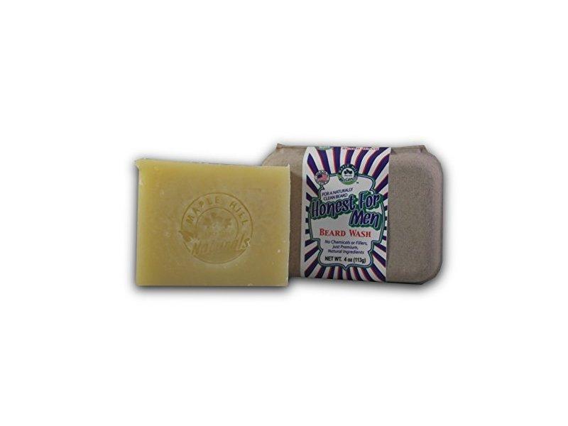 Maple Hill Naturals Honest for Men Beard Wash, Original Scent, 4 oz / 113 g