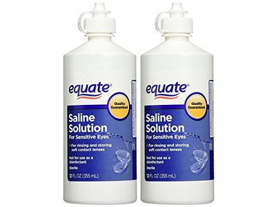 Equate Contact Lens Saline Solution for Sensitive Eyes, 12 fl oz