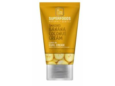 Be Care Love Superfoods Smashed Banana Coconut Cream Leave In Curl Cream, 5 fl oz