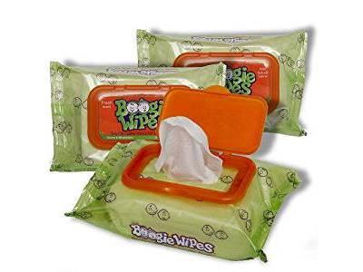 Boogie Wipes Gentle Saline Nose Wipes, Original Fresh Scent, 90 count