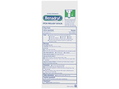 Benadryl Itch Relief Stick, Extra Strength, 0.47 oz (Pack of 3) - Image 3