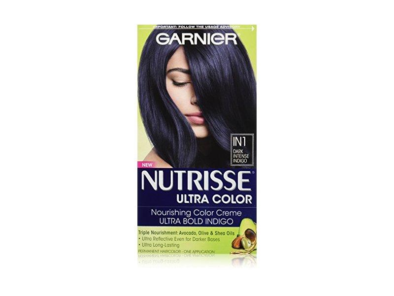 Garnier Nutrisse Ultra Color Nourishing Hair Color Creme, IN1 Dark Intense Indigo