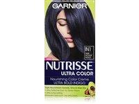 Garnier Nutrisse Ultra Color Nourishing Hair Color Creme, IN1 Dark Intense Indigo - Image 2