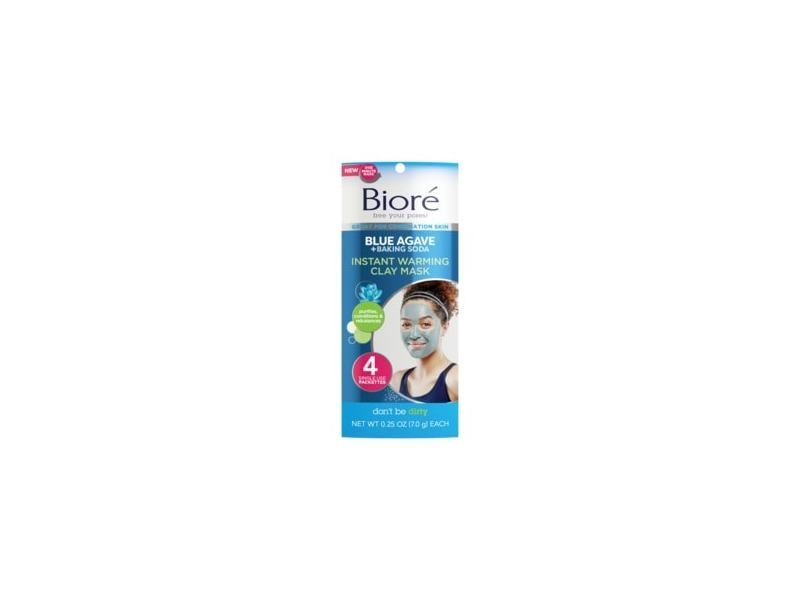 Biore Blue Agave and Baking Soda Warming Clay Mask