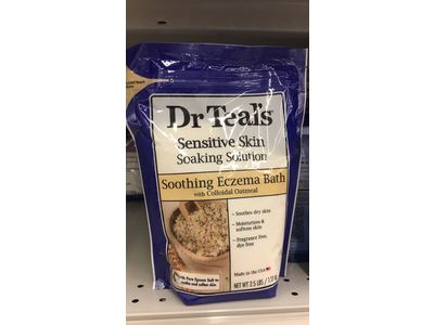 Dr. Teal's Sensitive Skin Soaking Solution, Soothing Eczema Bath, 2.5 LBS - Image 3
