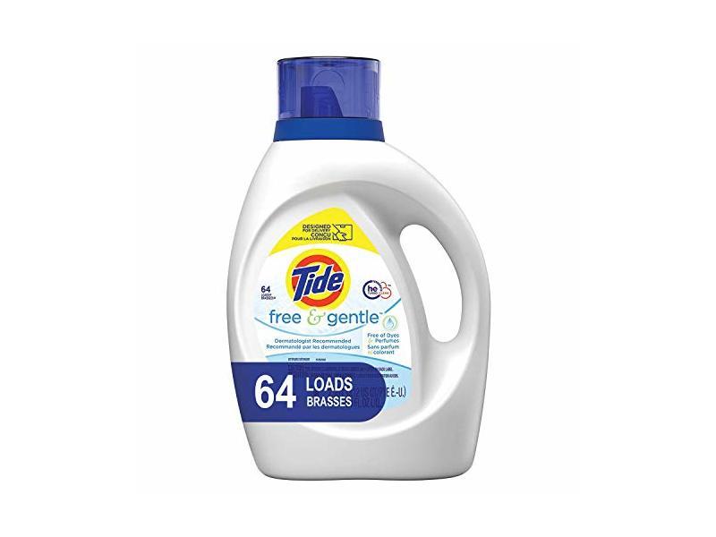 Tide Free and Gentle Liquid Laundry Detergent, 100 oz., 64 Loads
