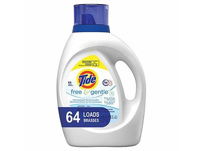 Tide Free and Gentle Liquid Laundry Detergent, 100 oz., 64 Loads