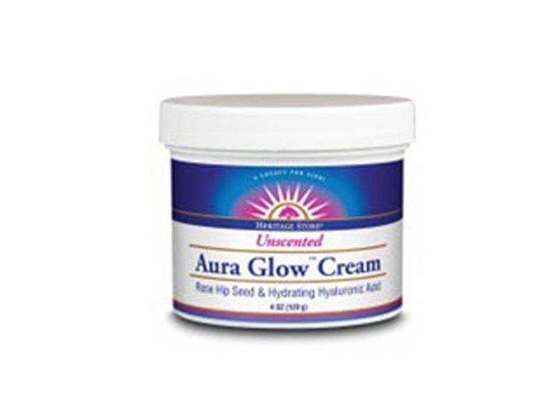 Heritage Store Aura Glow Cream, Unscented, 4 oz
