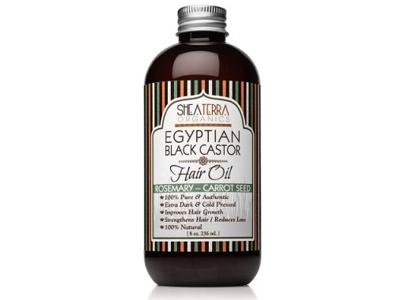 Shea Terra Organics Egyptian Black Castor Hair Oil, Rosemary-Carrot Seed, 8 oz