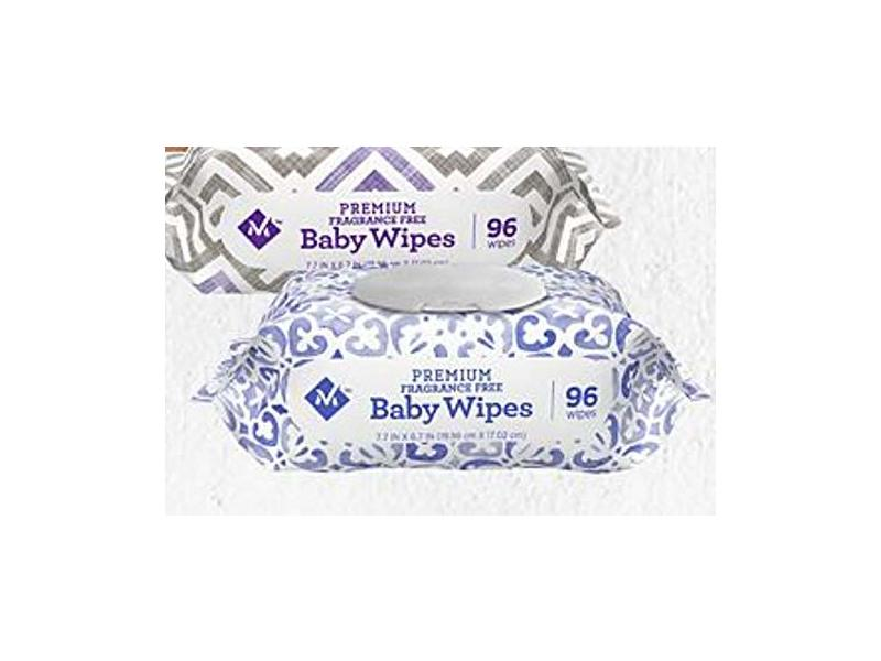 Member's Mark Premium Fragrance-Free Baby Wipes, 96 count