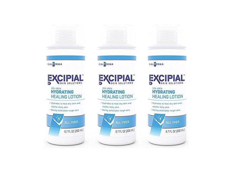 Galderma Excipial Urea Hydrating Healing Lotion, 6.7 fl oz (Pack of 3)