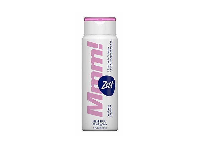 Zest Body Wash Mmm Blissful Glowing Skin 18 Ounce (532ml) (3 Pack)