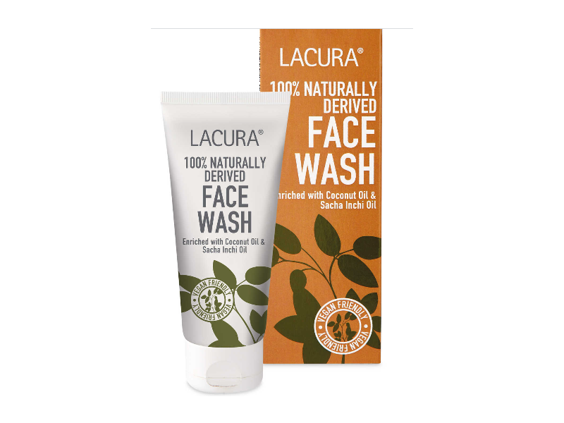Lacura 100 % Naturally Derived Face Wash, 100 ml