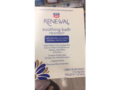 Rite Aid Oatmeal Bath Treatment Individual Bath Packets