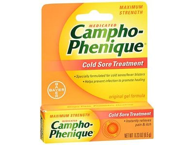 Campho-Phenique Original Cold Sore Treatment Gel Formula - 0.23 oz, Pack of 5