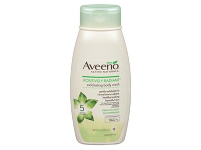 Aveeno Active Naturals Positively Radiant Exfoliating Body Wash, 18 fl oz - Image 1