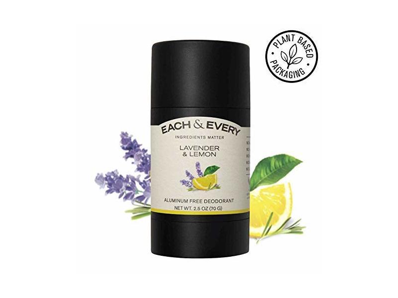 Each & Every Natural Aluminum-Free Deodorant, Lemon & Lavender