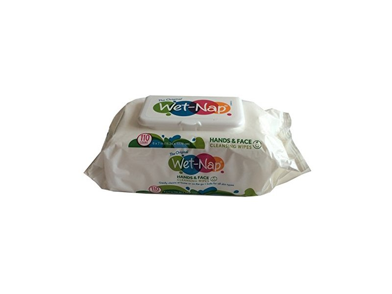 Wet-Nap Hands & Face Cleansing Wipes, 110 ct (3 Pack)
