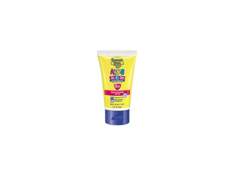 Banana Boat Kids Tear Free Sunscreen Lotion Travel Size SPF 50, 2 Ounce (2 Pack)