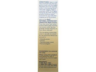 RoC Retinol Correxion Sensitive Eye Cream, 0.5 Ounce - Image 4