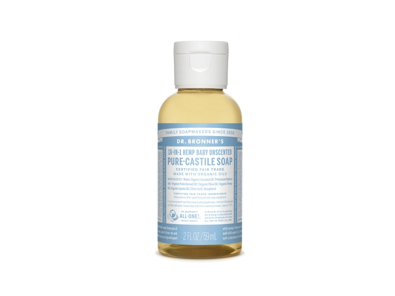 Dr. Bronner's Baby Unscented Pure-Castile Liquid Soap, 2 fl oz