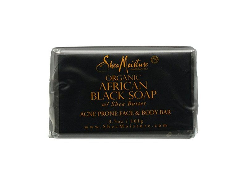 SheaMoisture African Black Soap Face & Body Bar, 3.5 oz