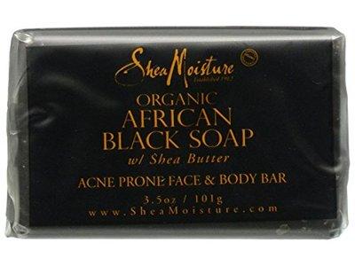 SheaMoisture African Black Soap Face & Body Bar, 3.5 oz