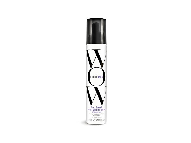 Color Wow Brass Banned Correct & Perfect Mousse - Blonde Hair, 6.8 ounce