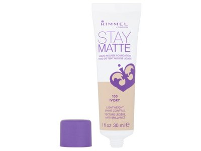 Rimmel London Stay Matte Liquid Mousse Foundation - 100 Ivory - Image 3