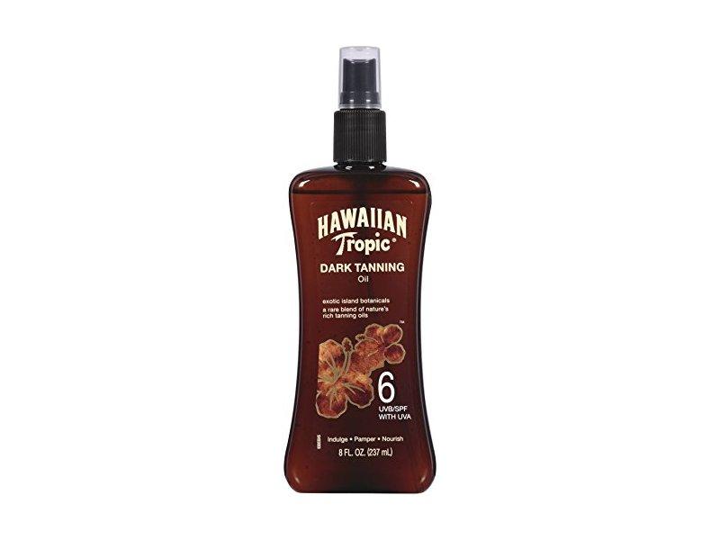 Hawaiian Tropic Dark Tanning Oil, SPF6, 8 fl oz