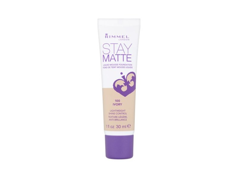Rimmel London Stay Matte Liquid Mousse Foundation - 100 Ivory