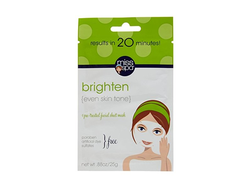 Miss Spa Brighten Facial Sheet Mask, 0.88 Ounce